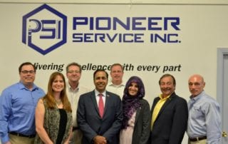 Congressman Raja Krishnamoorthi and Mayor Veenstra Tour Pioneer Service to See Impact of Partnerships