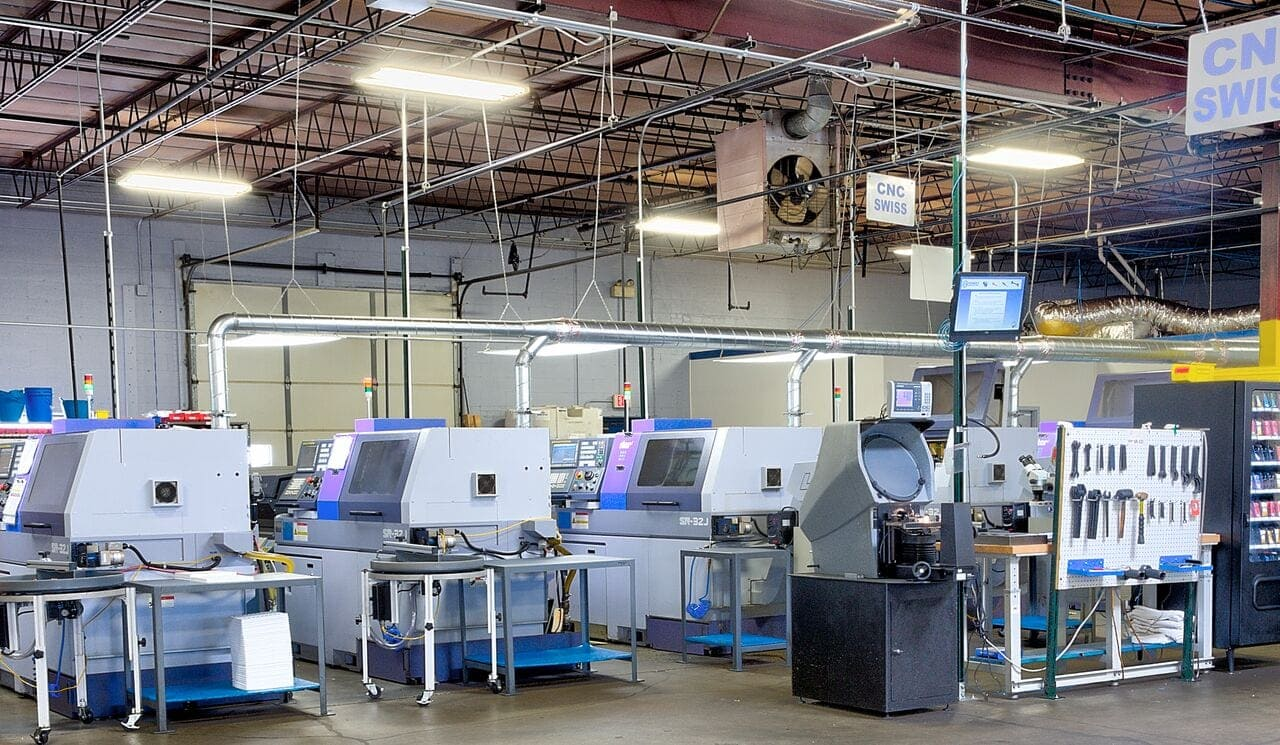 CNC swiss machines at Pioneer Service Inc.