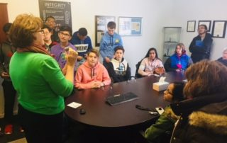 IMSA students visit Pioneer Service Inc this week.