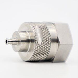 Precision Machined Component with Knurling Finishing - Pioneer Service
